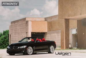 2014 BMW 4 Series - 20x9 35mm - Velgen Vmb7 - Lowered on Springs - 245/30R20