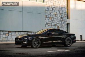 2015 Ford Mustang - 20x9 32mm - Velgen VMB7 - Lowered on Springs - 275/35R20