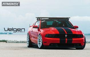 2011 Ford Mustang - 20x10.5 45mm - Velgen Vmb6 - Lowered Adj Coil Overs - 275/30R20