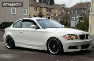 2008 BMW 128i - 18x8 10mm - TSW Grids - Lowered Adj Coil Overs - 215/40R18