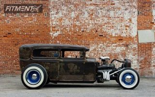 """1931 Ford Model A - 15x8 4mm - Smoothie Baby Moon - Lowered Adj Coil Overs - 29"""" x 8.5"""""""