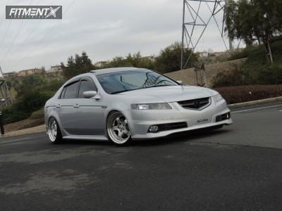 2005 Acura TL - 18x9.5 22mm - ESR Sr06 - Coilovers - 215/40R18