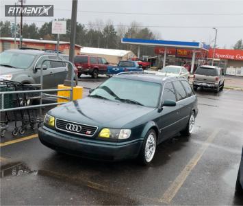 1995 Audi S6 - 18x8.5 35mm - Rotiform Lsr - Lowering Springs - 235/40R18