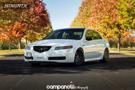 2005 Acura TL - 18x8.5 45mm - Rotiform Blq - Coilovers - 225/40R18