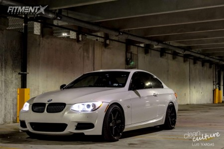 2012 BMW 335is - 19x9.5 22mm - ESR Sr07 - Lowering Springs - 235/45R19