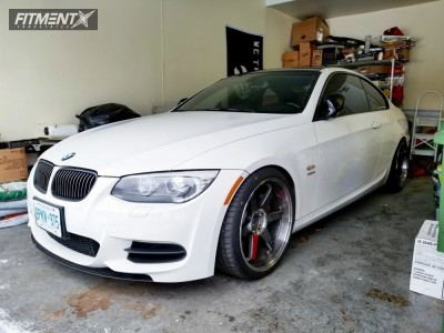 2011 BMW 335is - 19x9.5 21mm - Volk Te37sl - Coilovers - 265/30R19