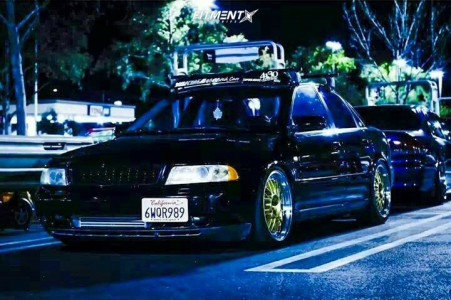 2000 Audi A4 - 18x8.5 35mm - Alzor 881 - Lowered Adj Coil Overs - 225/45R18