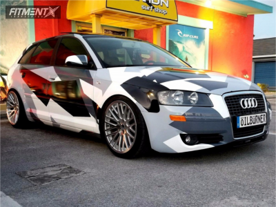 2008 Audi A3 - 18x8.5 35mm - WatercooledIND Sy10 - Coilovers - 225/40R18