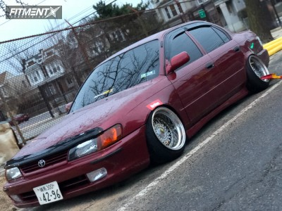 1997 Toyota Corolla - 15x9 -20mm - ESM 002r - Coilovers - 165/50R15