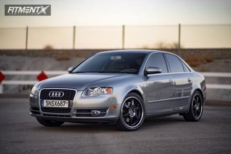 2006 Audi A4 - 18x8 15mm - Enkei PKR - Lowering Springs - 245/40R18