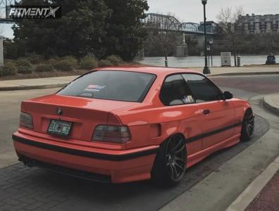 1999 BMW 323i - 18x8.5 30mm - ESR Sr08 - Air Suspension - 205/35R18