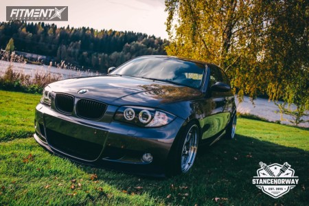 2008 BMW 128i - 18x8.5 30mm - ESR Sr02 - Coilovers - 205/35R18