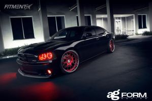 2007 Dodge Charger - 22x10 4mm - Avant Garde F210 - Lowered Adj Coil Overs - 245/30R22