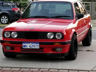 1989 BMW 318i - 15x8 25mm - AVID1 AV19 - Coilovers - 205/45R15