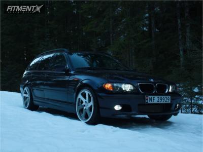 2004 BMW 3 Series - 19x8.5 35mm - 3SDM 0.06 - Stock Suspension - 215/35R19