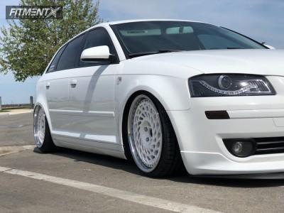 2008 Audi A3 - 18x8.5 35mm - FPF Wheels  - Air Suspension - 205/35R18