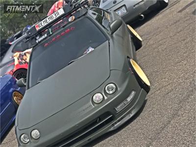 1995 Acura Integra - 15x10 0mm - Diamond Racing Smoothie - Stock Suspension - 185/45R15