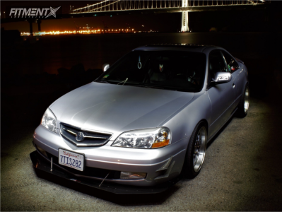 2001 Acura CL - 18x8.5 30mm - STR 601 - Coilovers - 245/35R18