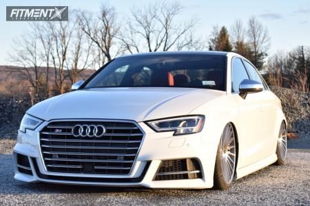 2018 Audi S3 - 19x8.5 35mm - Rotiform Ind-t - Air Suspension - 215/35R19