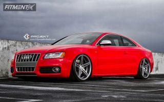 2011 Audi S5 - 20x10.5 30mm - K3 Projekt F2 - Lowered Adj Coil Overs - 275/30R20