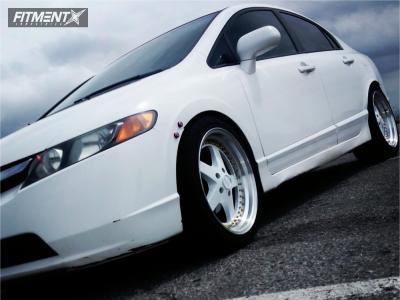 2006 Honda Civic - 18x9.5 35mm - ESR SR04 - Lowering Springs - 275/35R18