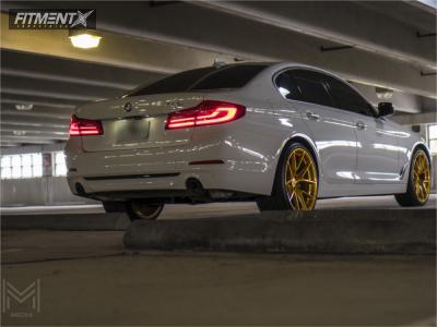 2018 BMW 530i - 20x9 30mm - Aodhan Ls007 - Stock Suspension - 245/35R20
