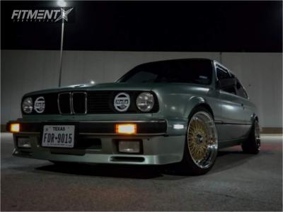 1986 BMW 325es - 17x8.5 15mm - JNC Jnc004 - Coilovers - 215/40R17