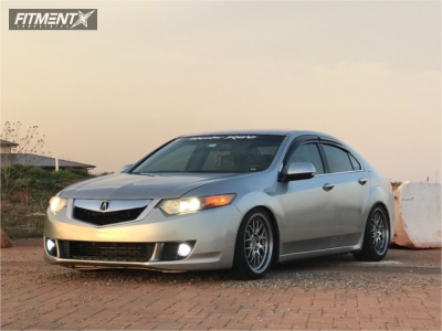 2009 Acura TSX - 18x8.5 25.3mm - F1R F21 - Coilovers - 225/35R18
