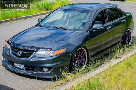 2005 Acura TSX - 18x9 11mm - Work Emotion Cr 2p - Coilovers - 225/35R18