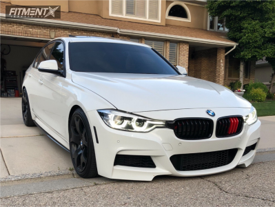 2017 BMW 340i xDrive - 19x9 48mm - BMW Style 63 - Lowering Springs - 225/40R19