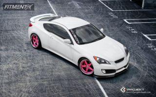 2010 Hyundai Genesis Coupe - 20x9 18mm - K3 Projekt Projekt 1 - Lowered Adj Coil Overs - 245/30R20