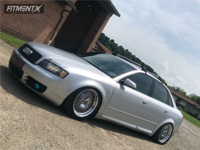 2004 Audi S4 - 17x8 15mm - Work Carving Head40 - Coilovers - 225/40R17