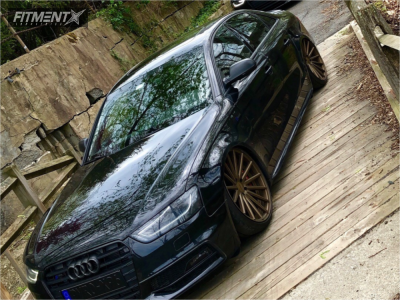 2014 Audi S4 - 20x9.5 40mm - Vossen Vfs2 - Air Suspension - 255/30R20