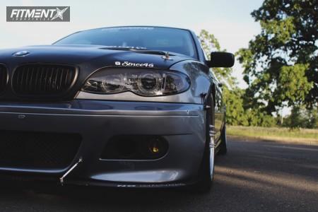2005 BMW 330i - 18x9.5 25mm - Beyern Mesh - Coilovers - 265/40R18