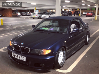 2005 BMW 3 Series - 17x8 20mm - BBS Rc090 - Coilovers - 195/45R17