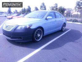 2008 Toyota Camry - 18x7.5 42mm - Sportmax 941 - Lowered on Springs - 225/40R18