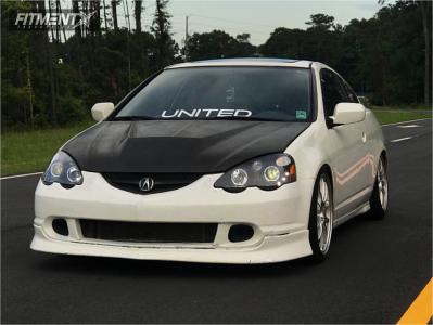 2002 Acura RSX - 18x8 45mm - Enkei Pf01 - Coilovers - 255/40R18