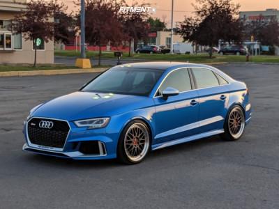 2018 Audi RS3 - 19x8.5 38mm - BBS Lm - Lowering Springs - 235/35R19