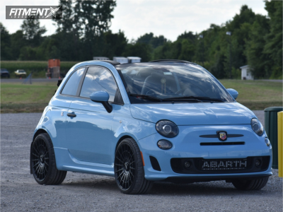 2017 Fiat 500 - 19x8.5 35mm - Rotiform Las-r - Stock Suspension - 235/30R19