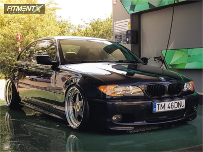 2005 BMW 325Ci - 18x9.5 16mm - OZ Racing Futura - Coilovers - 215/35R18