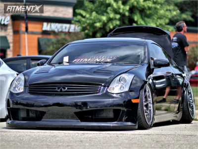 2004 Infiniti G35 - 19x11 0mm - Concept One Forged CF-003x - Air Suspension - 245/35R19
