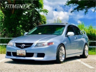 2005 Acura TSX - 17x8.5 35mm - F1R F21 - Coilovers - 245/30R17