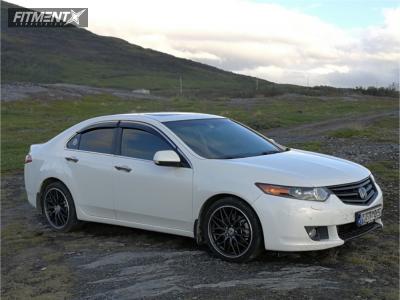 2009 Acura TSX - 18x8 48mm - Aez Crest Dark - Stock Suspension - 235/40R18
