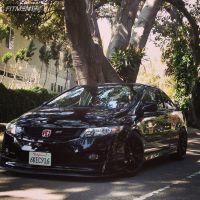 2010 Honda Civic - 18x8.5 35mm - Enkei Raijin - Lowered on Springs - 225/40R18