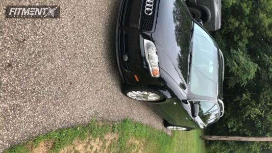 2007 Audi A4 Quattro - 18x8 35mm - Alzor 040 - Lowering Springs - 235/40R18