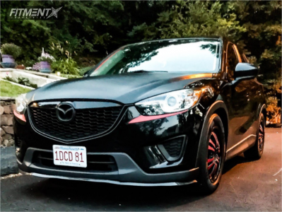 2014 Mazda CX-5 - 18x7.5 35mm - MKW M114 - Coilovers - 225/60R18