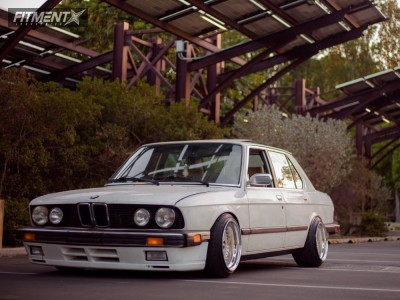 1987 BMW 528e - 16x10 0mm - BBS Rs - Coilovers - 205/40R16