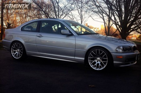2000 BMW 328Ci - 18x9 35mm - Alzor 030 - Coilovers - 255/35R18