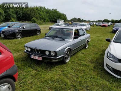 1985 BMW 528i - 17x8 35mm - Rondell 0067 - Coilovers - 215/45R17