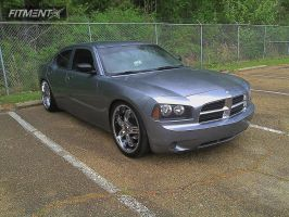 2007 Dodge Charger - 22x9 30mm - Lorenzo WL026 - Lowered Adj Coil Overs - 265/35R22